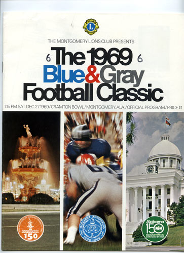 1969 Blue and Gray Classic College Football Program