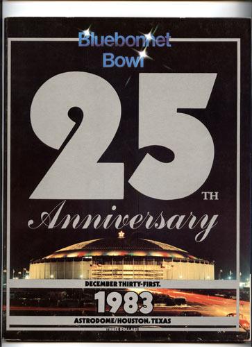 1983 Baylor vs Oklahoma Bluebonnet  Bowl 25 College Football Program