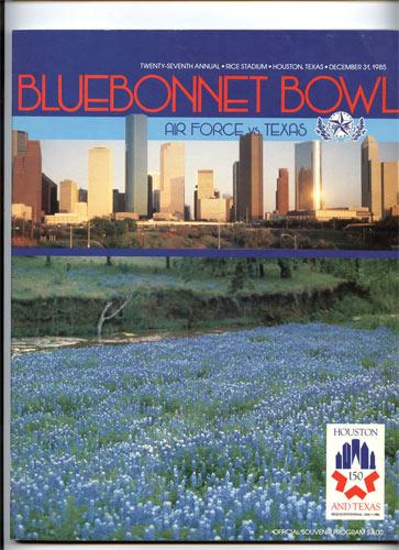 1985 Air Force vs Texas Bluebonnet  Bowl 27 College Football Program