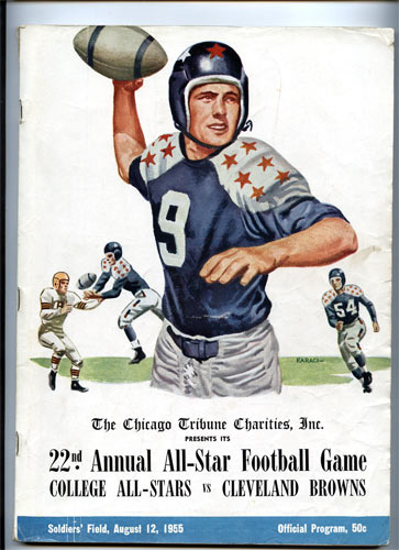 1955 22nd Annual All-Star Football Game College and Pro Football Program