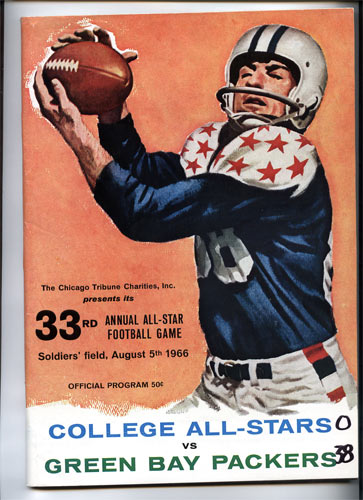 1966 33rd Annual All-Star Football Game College and Pro Football Program