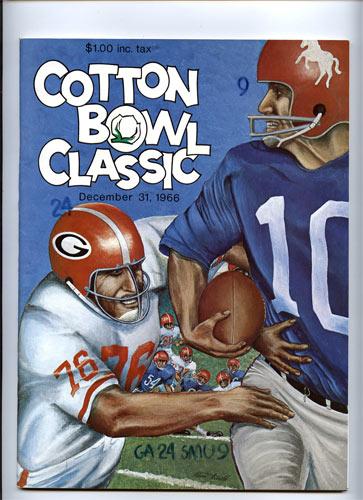 1966 Georgia vs SMU Cotton Bowl College Football Program
