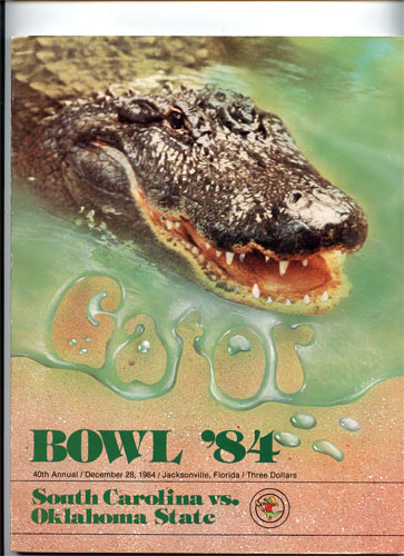 Gator Bowl 40 South Carolina vs Oklahoma Gator Bowl Program