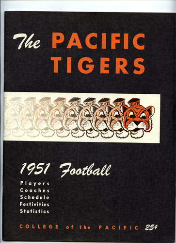 1951 College of the Pacific Football College Football Media Guide