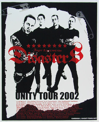 Pete Cardoso Roger Miret and the Disasters Poster