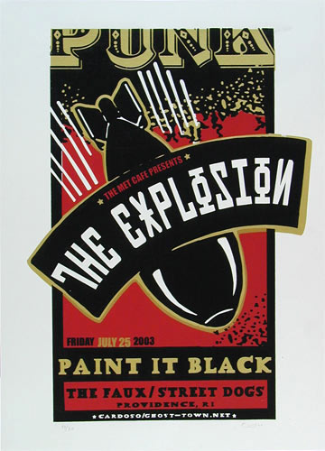 Pete Cardoso The Explosion Poster