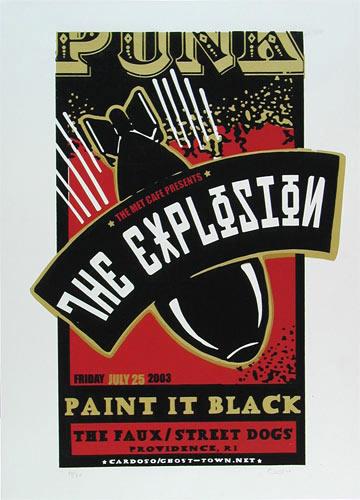 Pete Cardoso The Explosion Poster