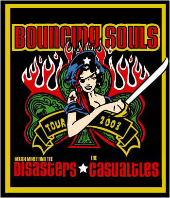 Pete Cardoso Bouncing Souls Poster
