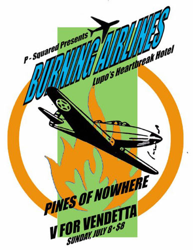 Pete Cardoso Burning Airlines Poster