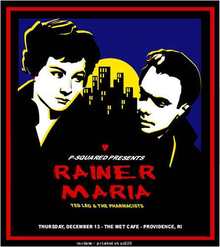 Pete Cardoso Rainer Maria Poster