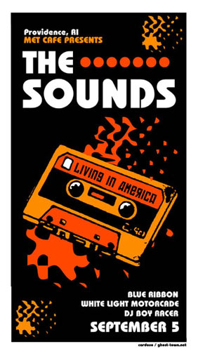 Pete Cardoso The Sounds - Living In America CD Release Poster