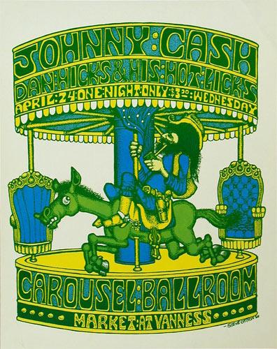 Steve Catron Carousel Ballroom Johnny Cash Poster