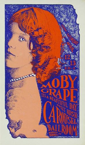 Carousel Ballroom Moby Grape Poster