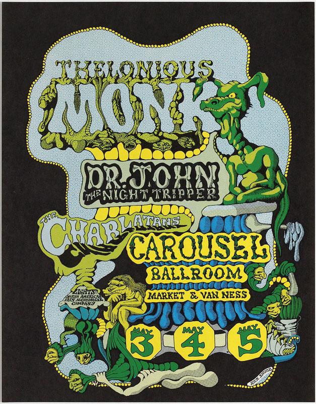 Rick Shubb Carousel Ballroom Thelonious Monk Poster