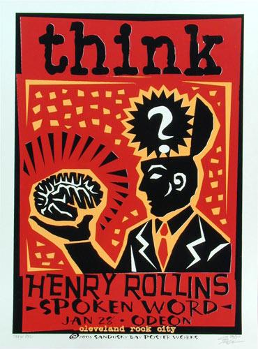 Sean Carroll Henry Rollins Poster