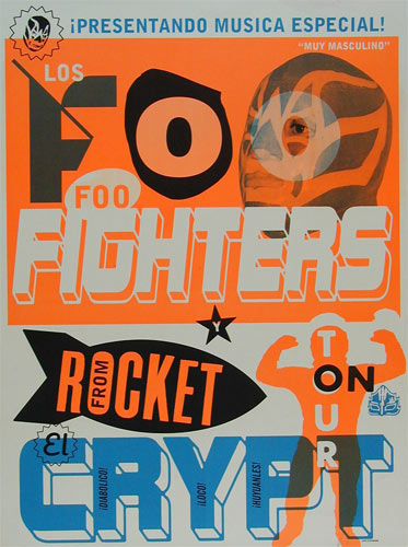Foo Fighters 1998 Tour Poster