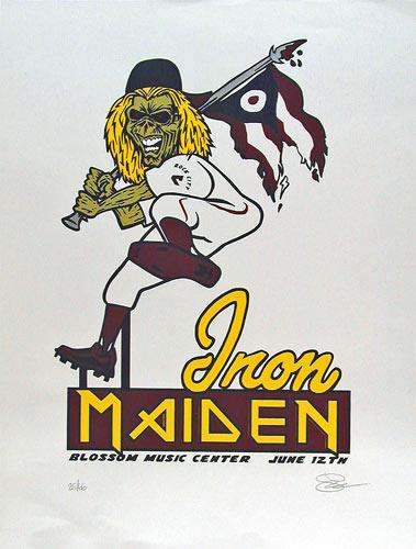 Sean Carroll Iron Maiden Poster