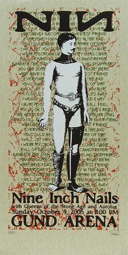 Sean Carroll Nine Inch Nails Poster