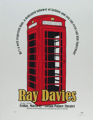 Sean Carroll Ray Davies Poster