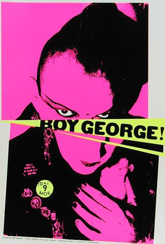 Art Chantry Boy George Poster
