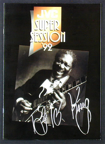 JVC Super Session 1992 Featuring B.B King and Robert Cray Concert Program