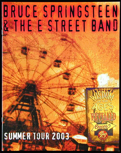 Bruce Springsteen 2003 Summer Tour Program