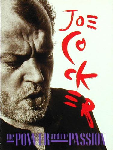 Joe Cocker 1990 Power and Passion Tour Concert Program