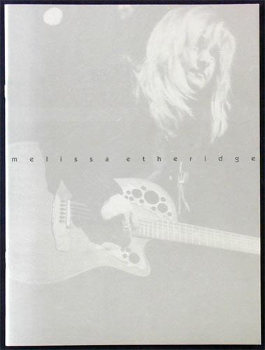 Melissa Etheridge 1996 Tour Concert Program