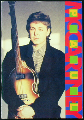 Paul McCartney 89-90 Japan Tour Concert Program