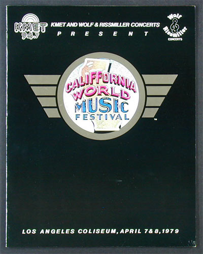 California World Music Festival Program