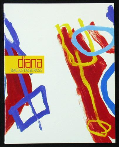 Diana Ross 1991 Backstage Pass Tour Concert Program