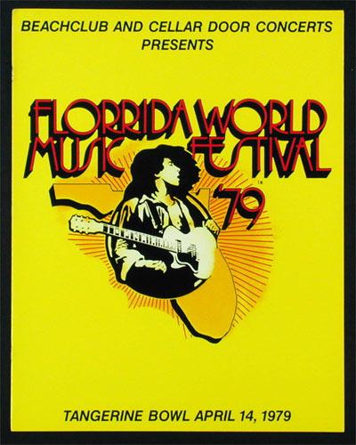 Florrida World Music Festival 1979 Concert Program