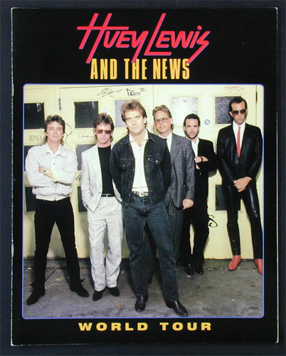 Huey Lewis 1986 World Tour Program