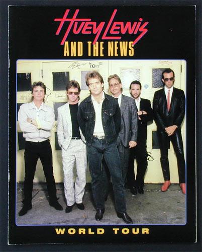 Huey Lewis 1986 World Tour Concert Program