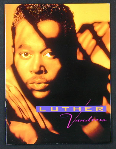 Luther Vandross 1991 Power Of Love Tour Program
