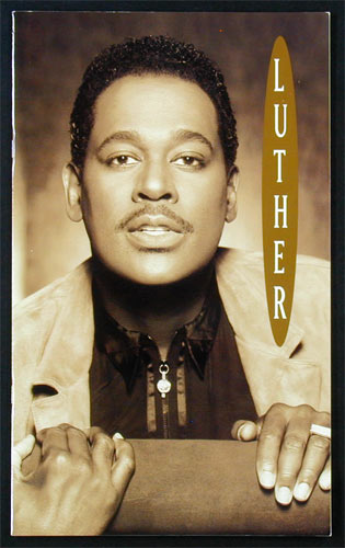 Luther Vandross 1993 Never Let Me Go Tour Concert Program