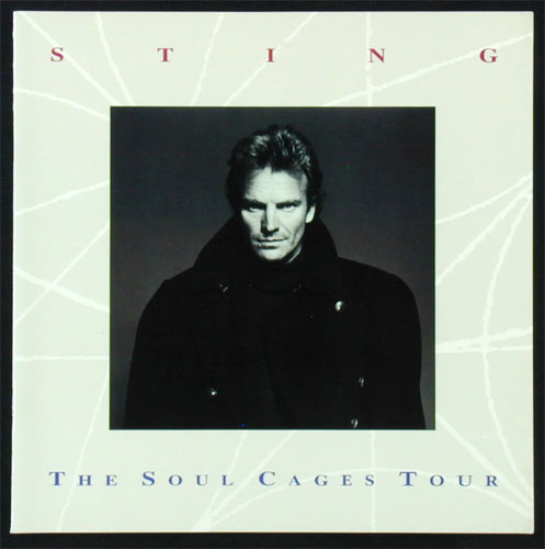 Sting 1991 Soul Cages Tour Program