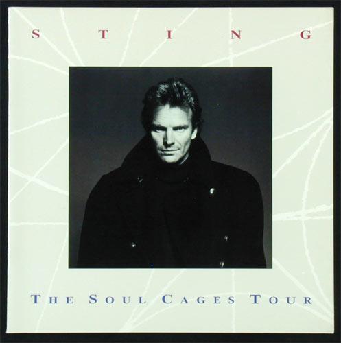 Sting 1991 Soul Cages Tour Concert Program