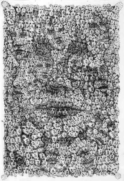 Lee Conklin Faces Art Print
