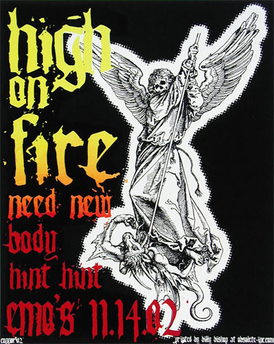 Jared Connor High On Fire Poster