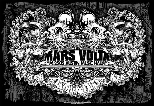 Jared Connor and Jermaine Rogers The Mars Volta Poster