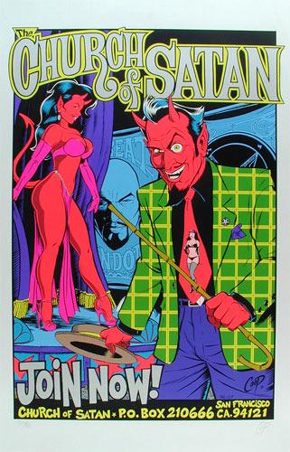 Coop Church Of Satan Silver Poster
