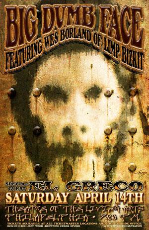 Jeff Wood - Drowning Creek Big Dumb Face Poster