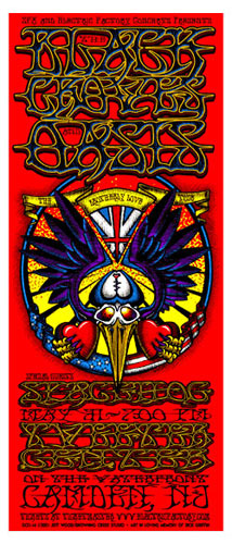 Jeff Wood - Drowning Creek The Black Crowes Handbill