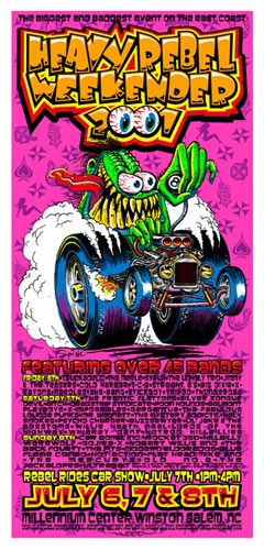 Jeff Wood and Spine - Drowning Creek Heavy Rebel Weekender 2001 Handbill