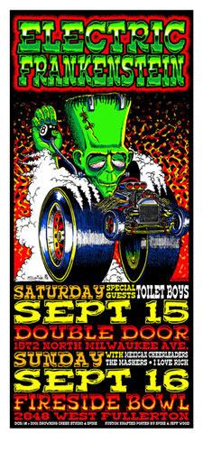 Jeff Wood and Spine - Drowning Creek Electric Frankenstein Handbill
