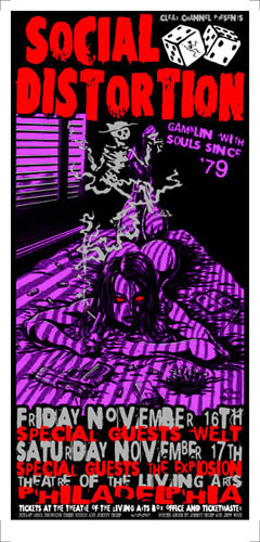 Johnny Thief and Jeff Wood - Drowning Creek Social Distortion Poster