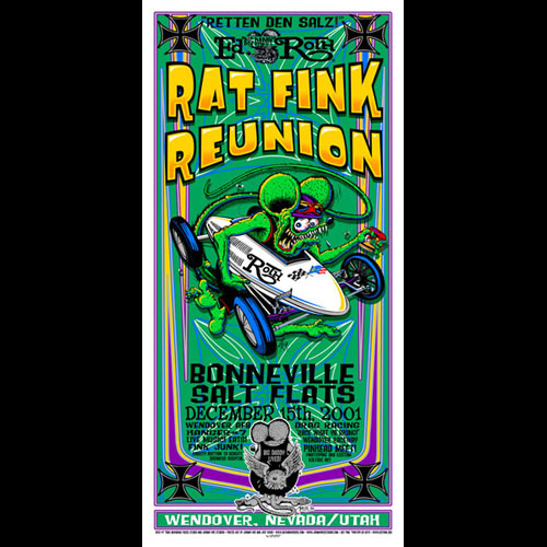Johnny Ace and Jeff Wood - Drowning Creek Rat Fink Reunion Handbill