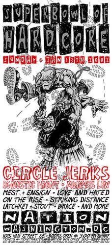 Johnny Thief and Jeff Wood - Drowning Creek Superbowl  of Hardcore Handbill