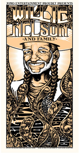 W. Ralph Walters and Jeff Wood - Drowning Creek Willie Nelson Poster